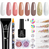 Beetles Gel Nail Polish 8 Colors Set | Nude Pink