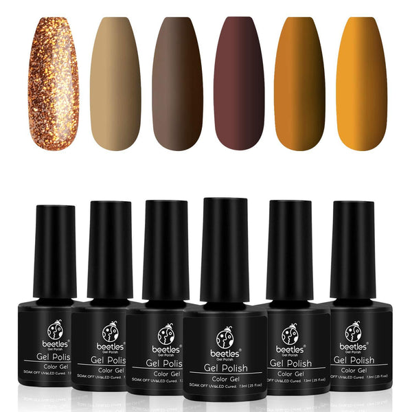 Gel Polish 6 Colors Set | Caramel Swirl