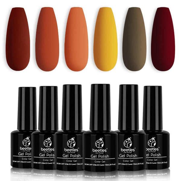 Gel Polish 6 Colors Set | Autumn Leaves