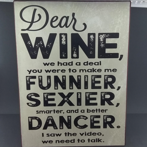Dear Wine sign