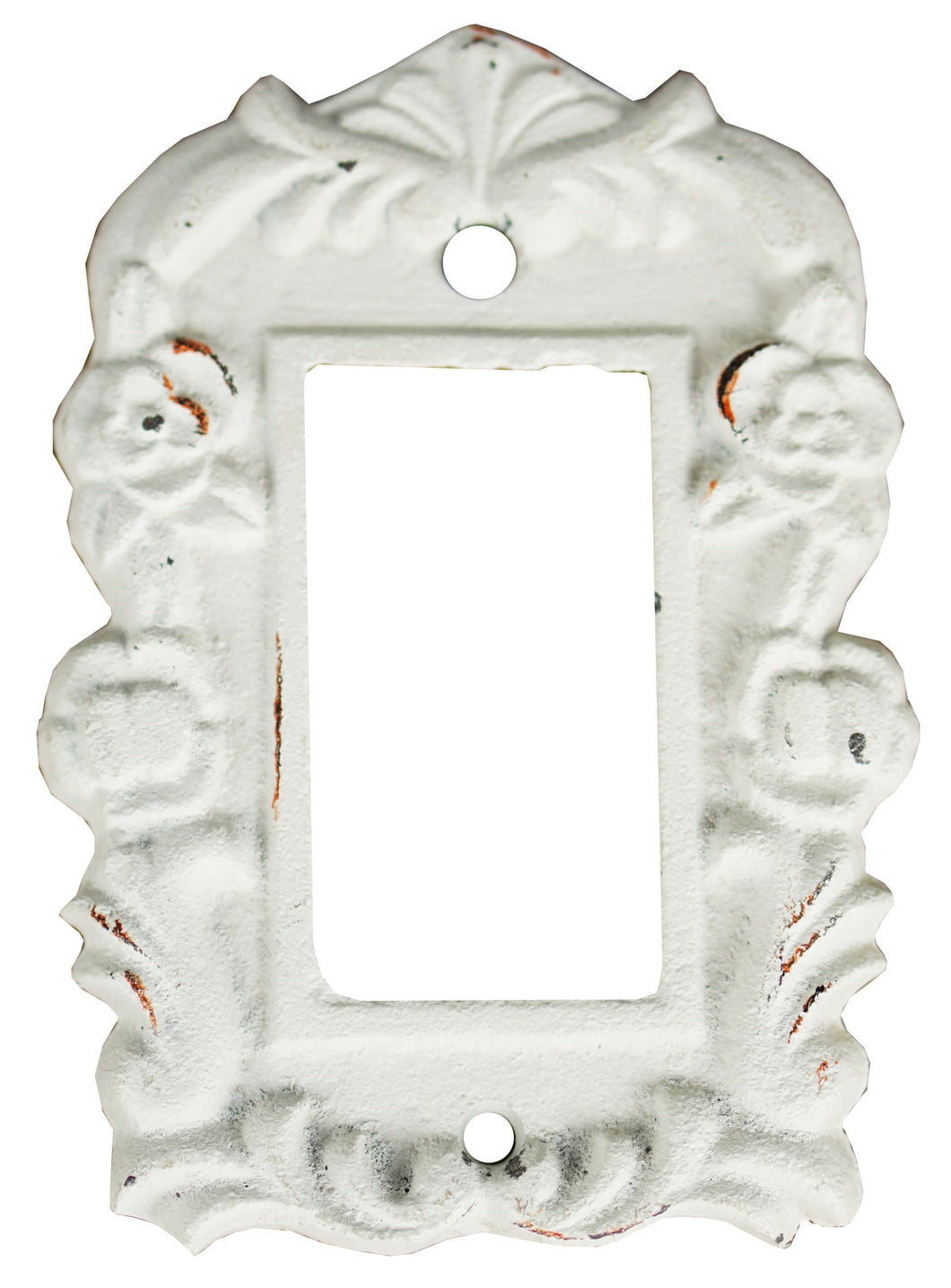 Tori Cast Iron Light Switch Cover, Single, Antique White 3.8x5.4inch