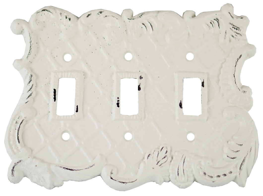Triple Pole Switch Cover, Antique White