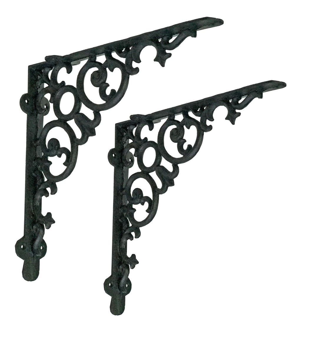 Shelf bracket, scroll, large, antique black