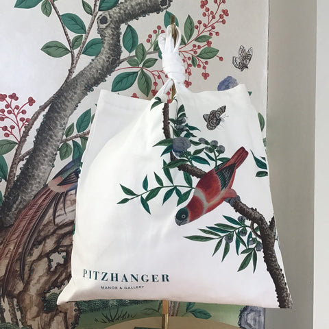 10oz Canvas Tote Bag Bird Mural Pitzhanger
