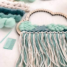 cloud shape loom weaving diy kit