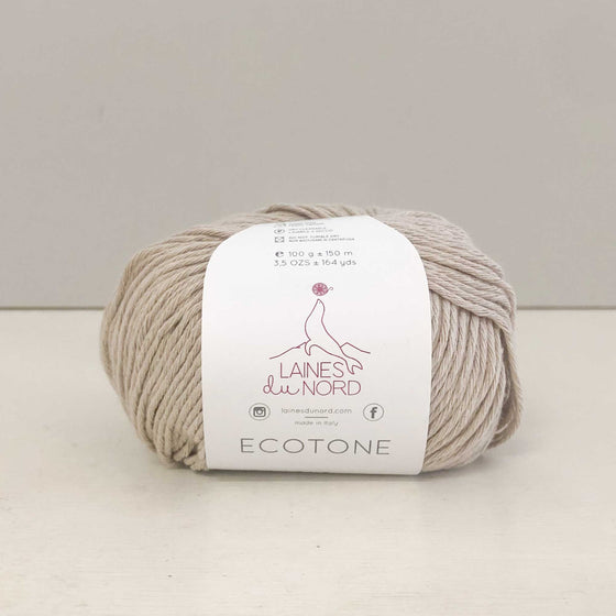 khaki colour recycled cotton yarn ecotone