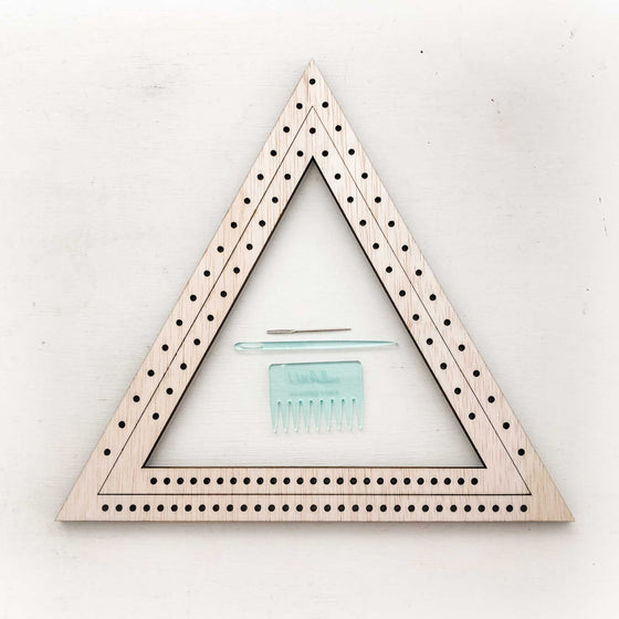 DIY Shape Loom Weaving Kit (Triangles - Moss & Pebbles)