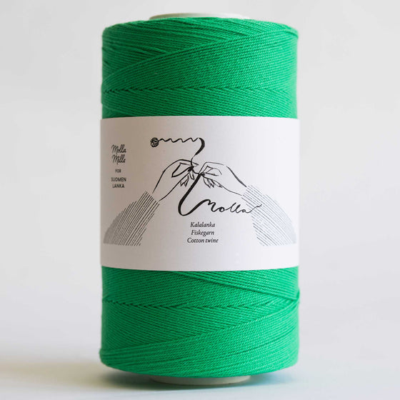 molla cotton twine tapestry crochet jade green