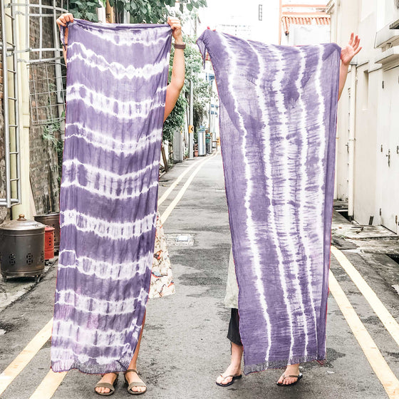 logwood dyed shibori scarf natural dye workshop