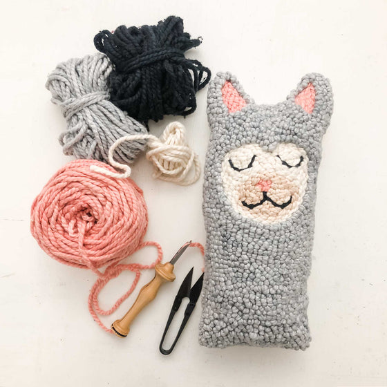 punch needle alpaca llama plushie workshop, sew a plushie workshop for kids