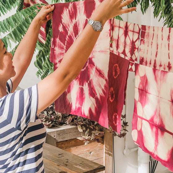 natural dye tie dye workshop singapore
