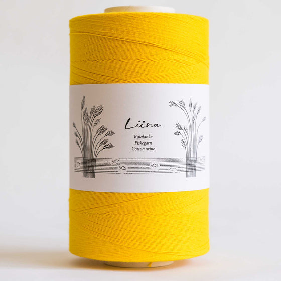liina cotton twine yellow tapestry crochet modern 12ply singapore