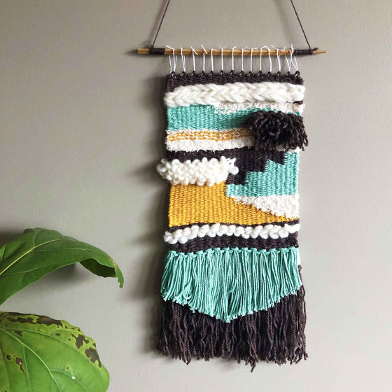 tapestry weaving wall hanging