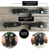 Paracord Survival Bracelet (8 in 1) With Fire Starter