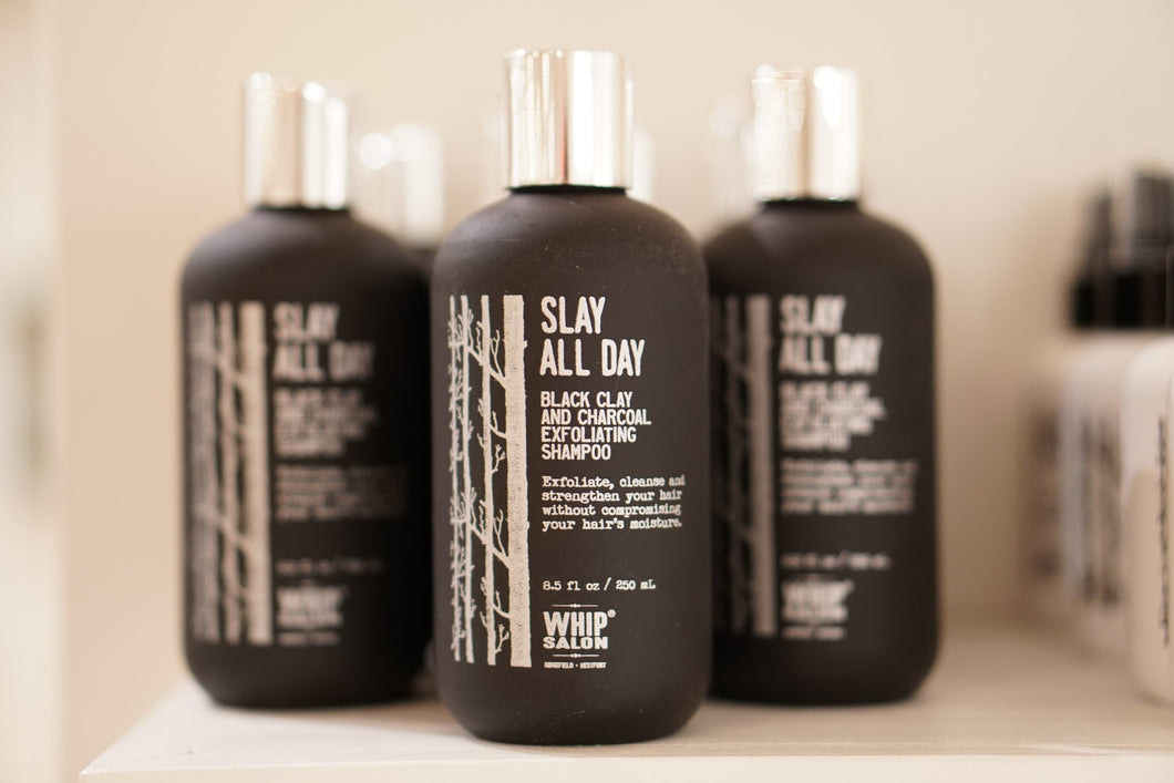 Slay All Day: Black Clay and Charcoal Exfoliating Shampoo