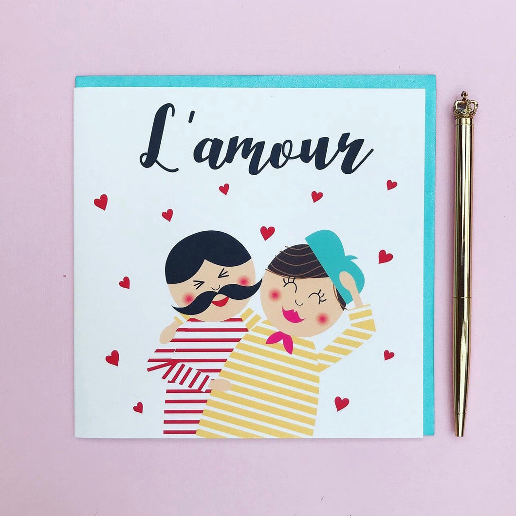 L'amour valentine/ anniversary card