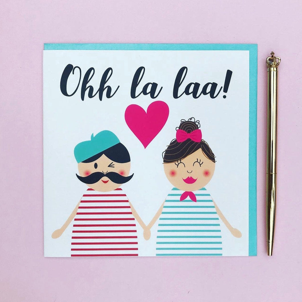 Cute Anniversary card - Ooh la laa greeting card - Valentines day card - card for husband - card for wife - boyfriend card - girlfriend card