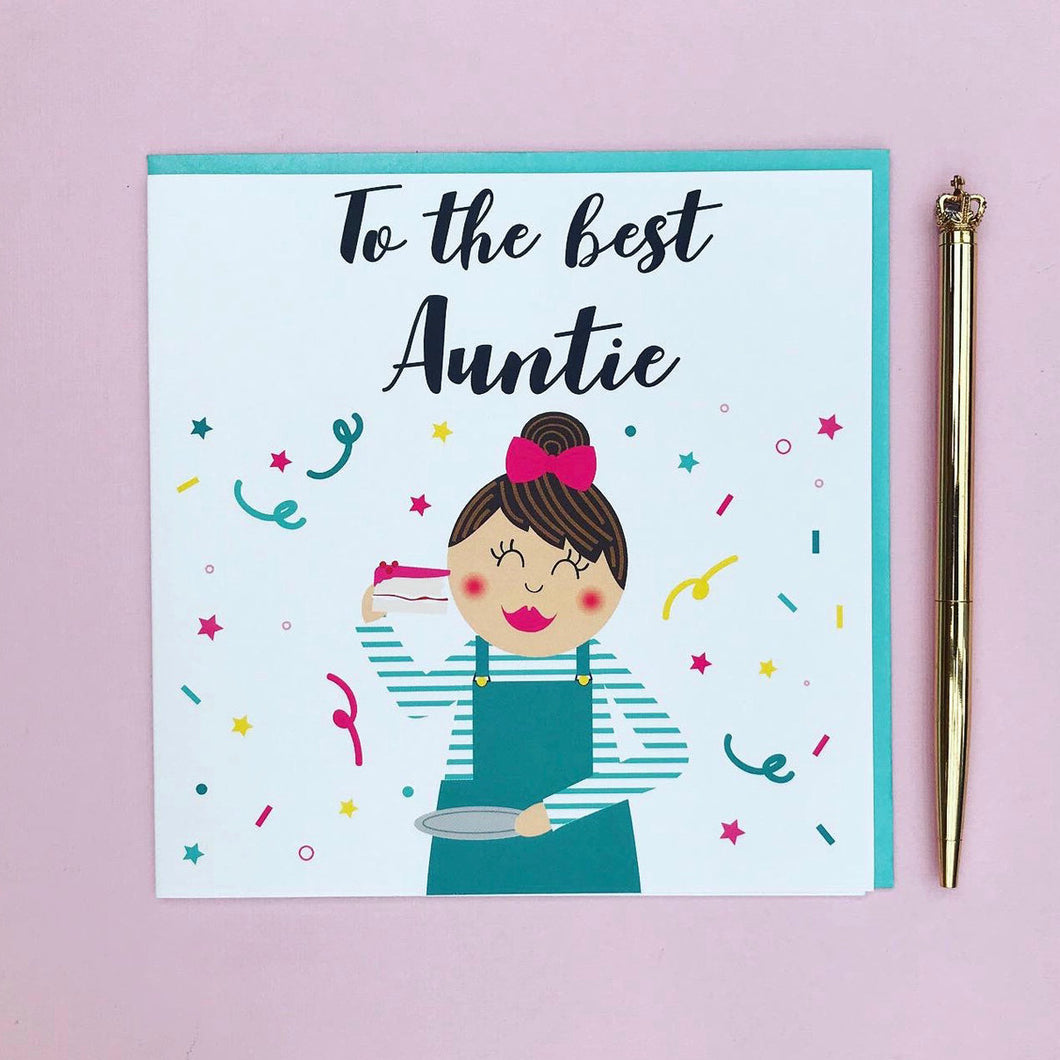 Auntie Birthday Card - to the best Auntie greeting card