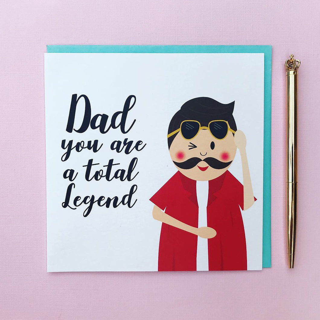 Dad birthday card - Dad you are a Legend- Fathers day card
