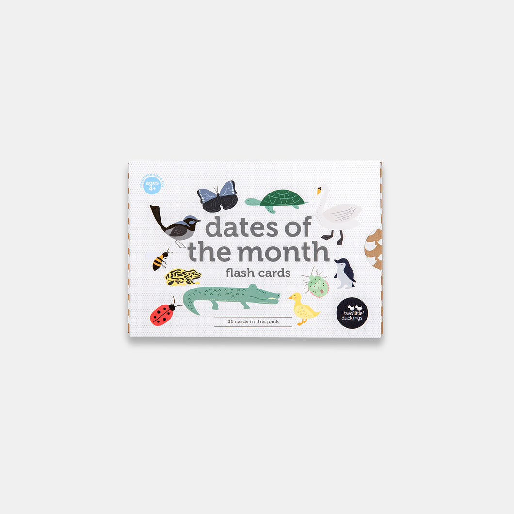 Dates of the Month Flash Cards