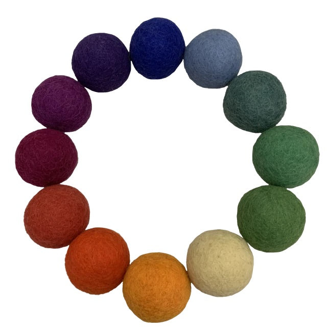 Felt Balls - Goethe 5cm (set of 12)