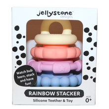 Load image into Gallery viewer, Rainbow Stacker and Teether Toy - Pastel