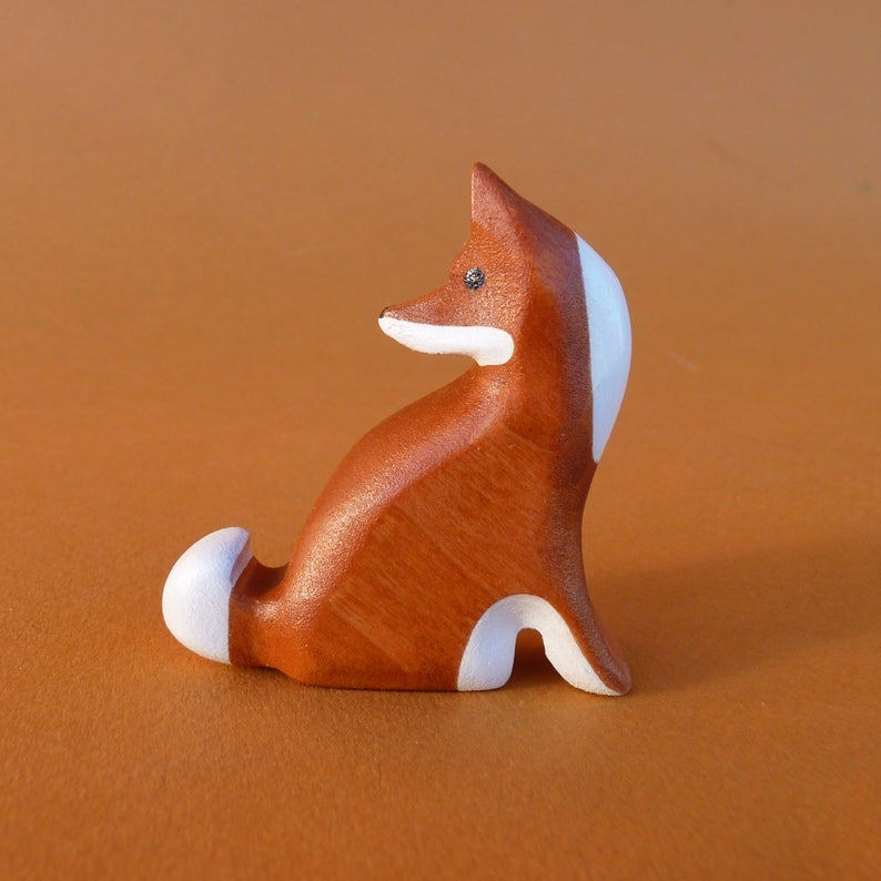 Wooden Fox (Looking Back)