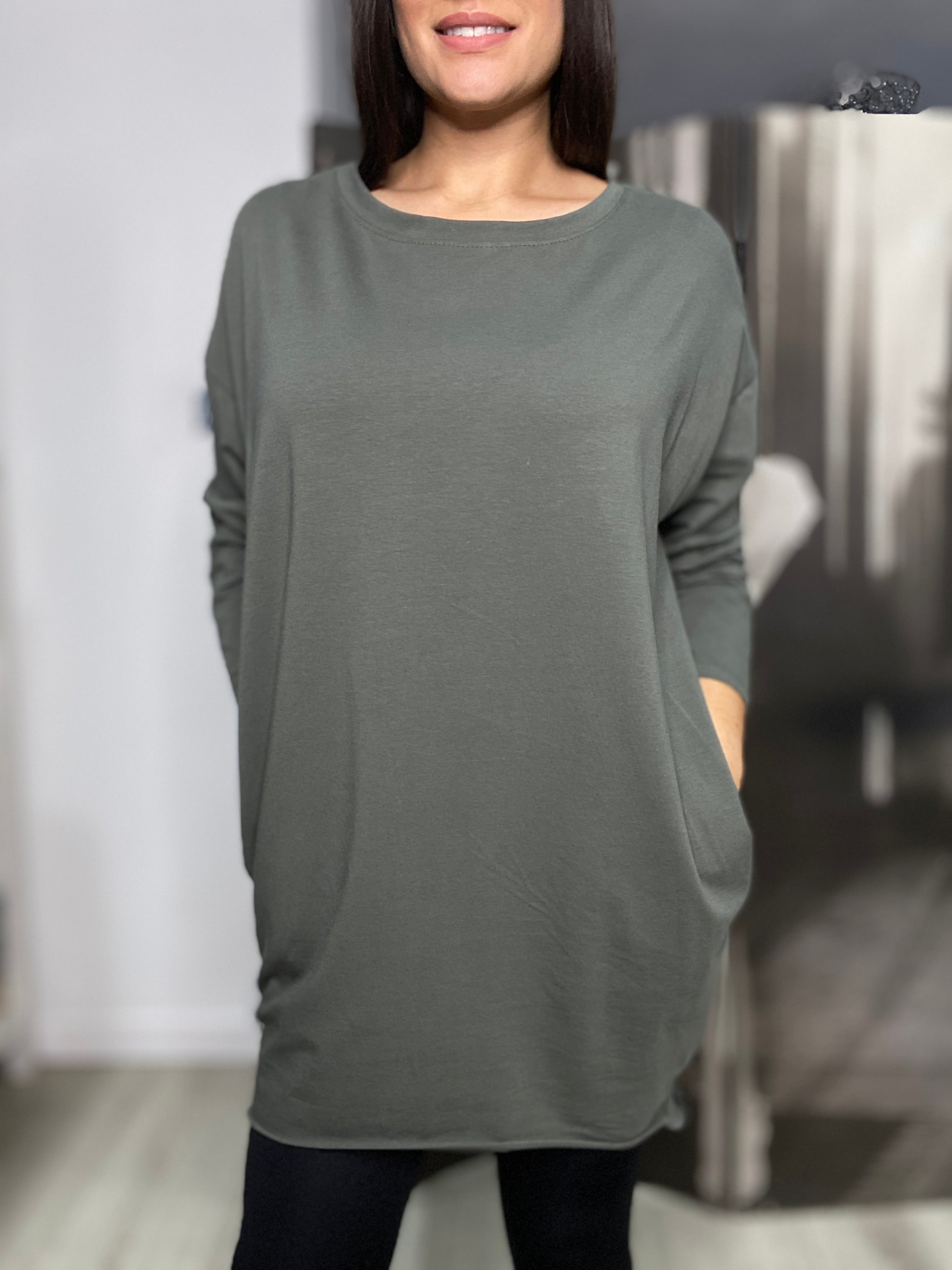 Basic Long Sleeve Tee - Khaki