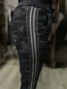 Magic Bottoms - Designer Dark Grey Camo Stripe