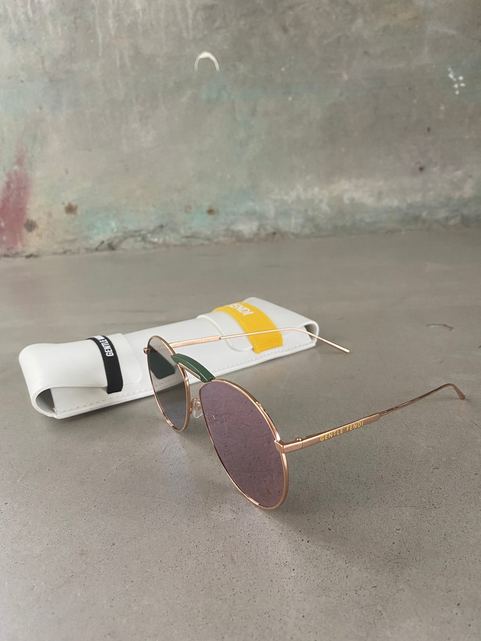 Fendi Rose Gold Metal Sunglasses