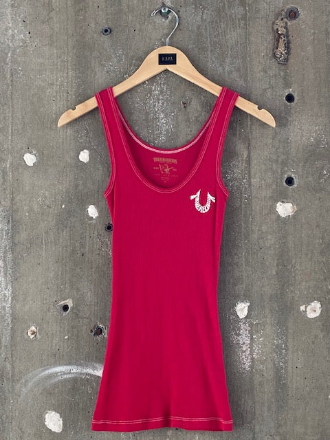 True Religion Red Tank Top