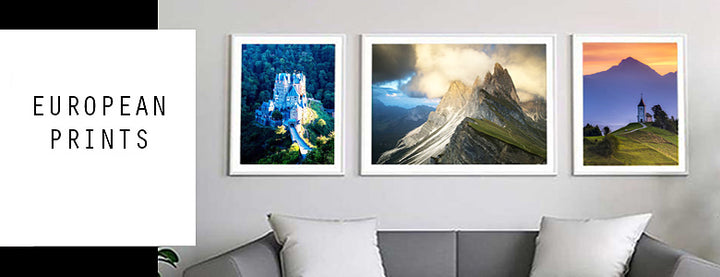 Buy one of our stunning prints of Europe from italy, slovenia, croatia, switzerland of the alps, We sell prints from europe either framed or unframed
