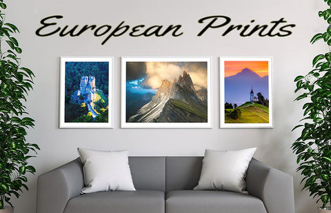 our wall art prints of italy, austria, switzerland, slovenia, the dolomites and europe.