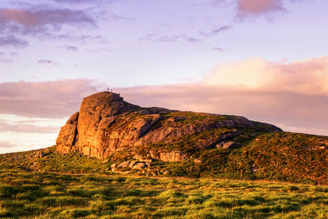 Haytor rock during sunset, a great place to spend a picnic sebastien coell photography