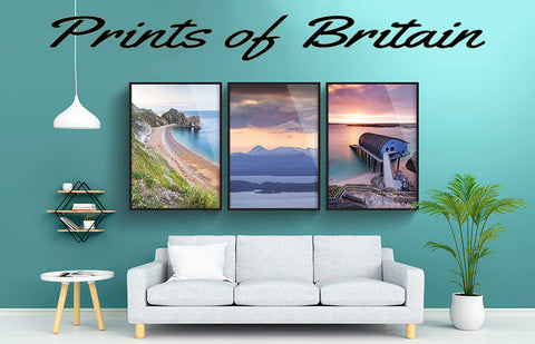 our wall art prints of Britain, england, scotland and wales, cornwall and devon