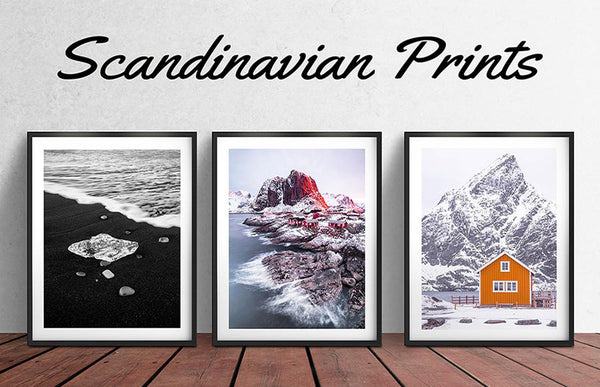 beautiful scandinavian artwork for sale, framed photographic prints and wall art