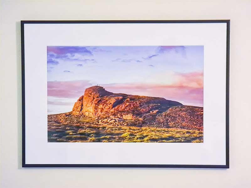 one of our premium fine art aluminium frames we sell at sebastien coell photography