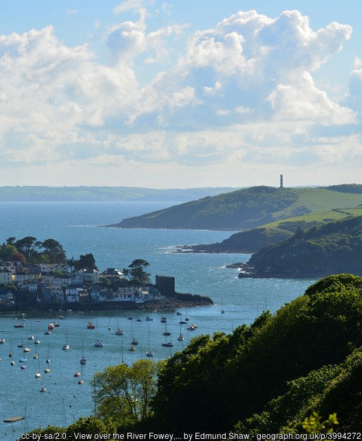 The river fowey looking out to sea, a great place for a walk for the whole family