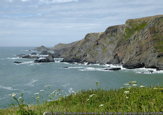Hartland heritage coast makes for a dramatic and energetic walk along the rugged border of cornwall and devon