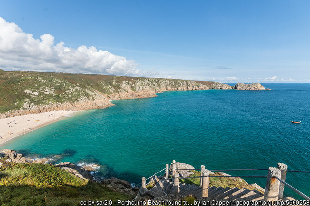 Porthcurno is a real gem of the cornish coastline and make a really great scenic walk Scoellphotography