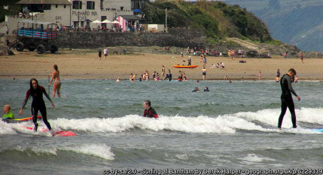 Bigbury gets very busy during the summer months with surfers and bathers using the beach