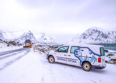 Traveling to Norway and the lofoten islands in a campervan from arctic campers for vdubphotolife and scoellphotography