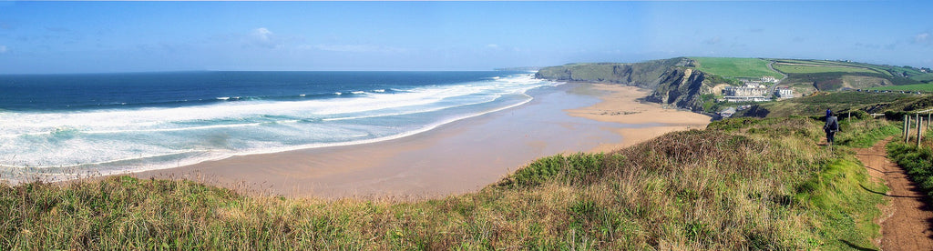Watergate bay in cornwall is a great location to visit for many great walks along the beach or grab a bit to eat with some local tasty fish and chips