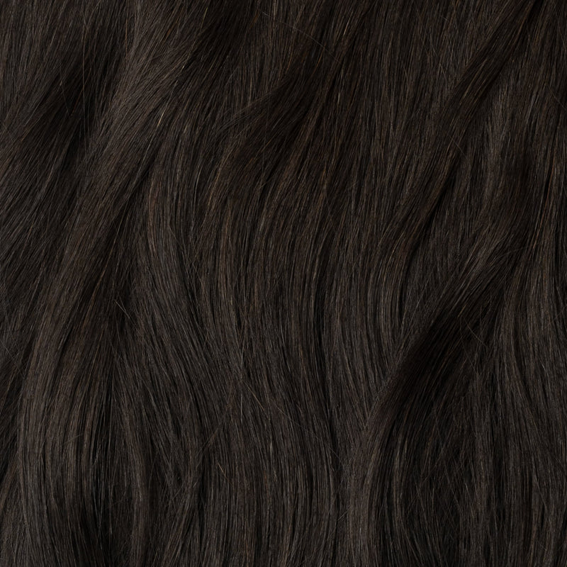 Halo hair extensions - Sortbrun nr. 1A