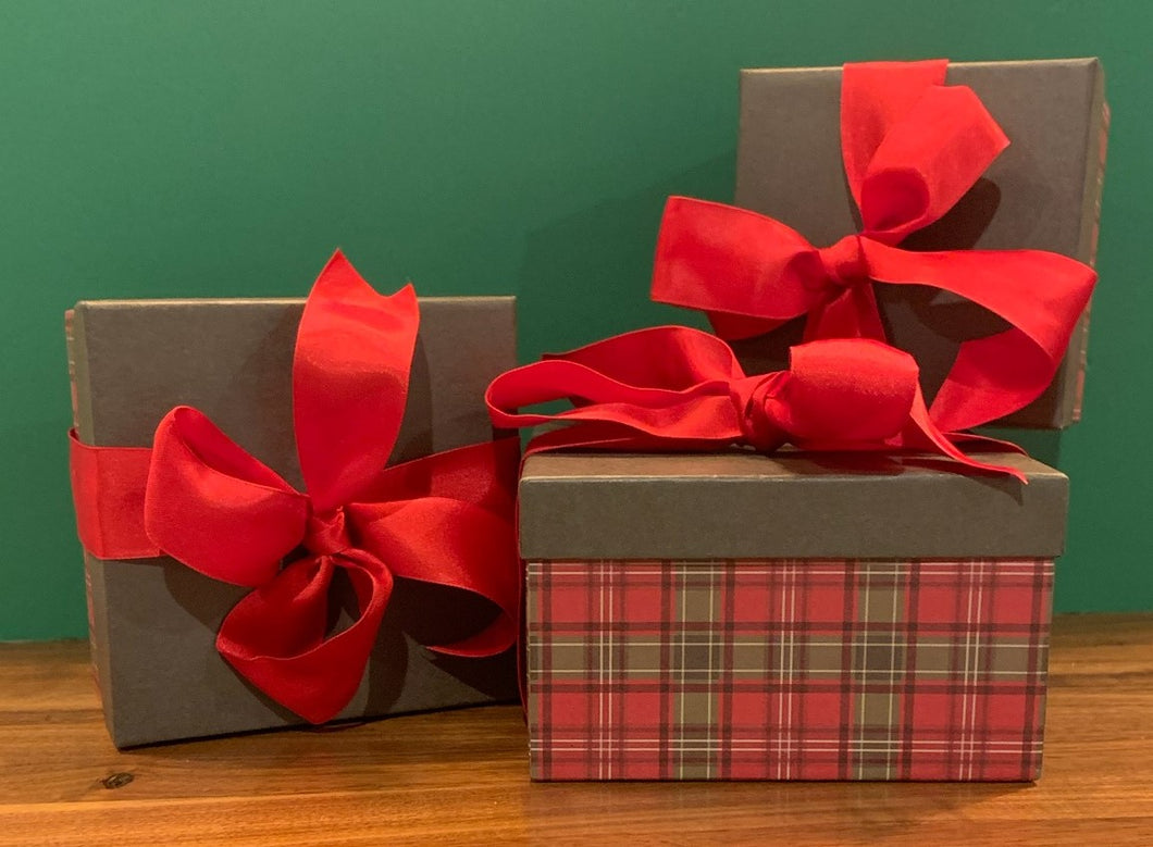 Holiday Plaid Box w/ Candy