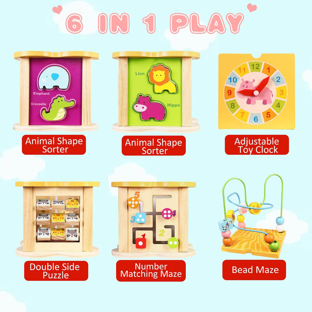 Best Seller: 6-in-1 Activity Cube