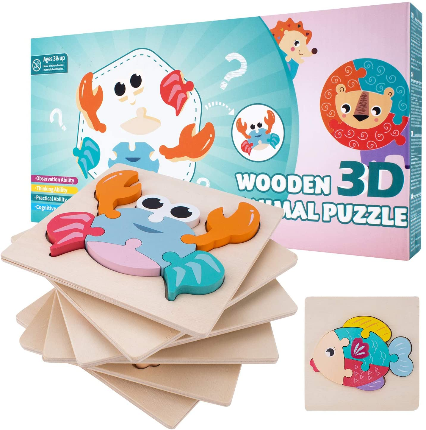 Best Seller: Montessori Puzzles Bundle (PACK OF 6!)