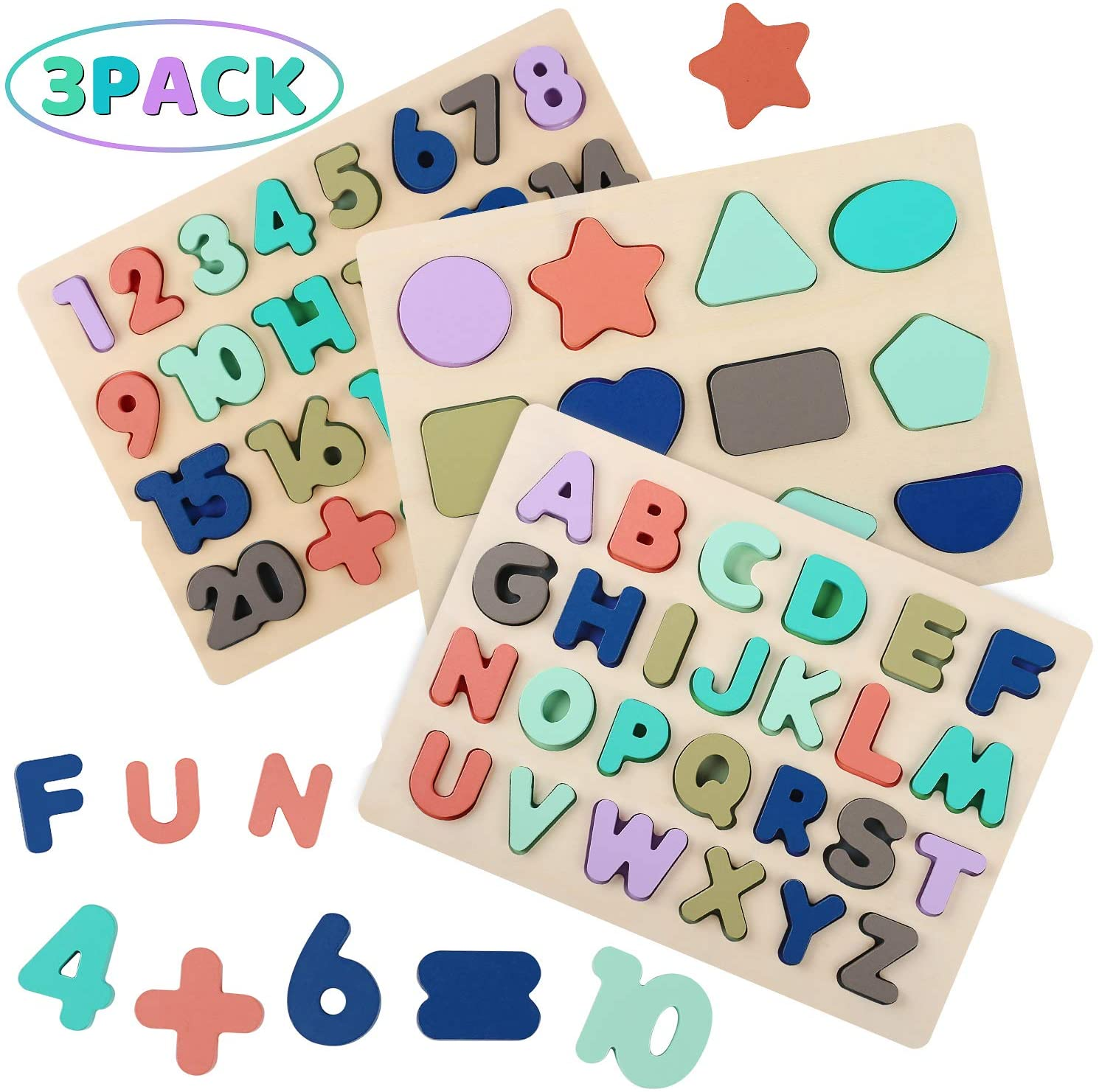 Best Seller: Montessori Educational Puzzles (PACK OF 3!)