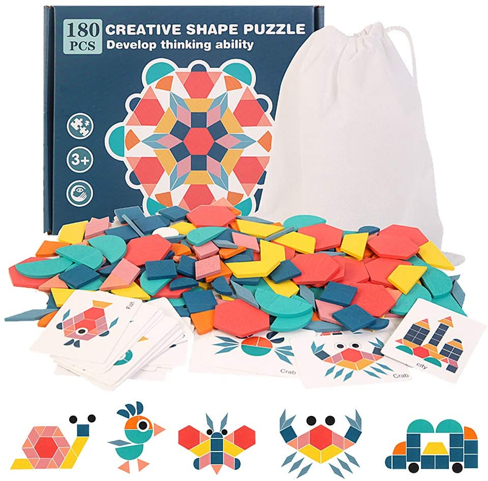 Best Seller: Montessori Shapes Puzzles Bundle (180 PCS!)