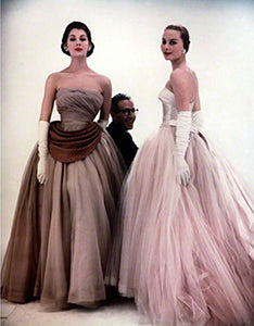Classic 1950's debutante ballgown satin and tulle gowns